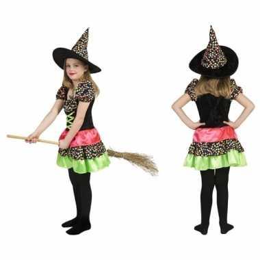 Heksen kostuum jurk incl. hoed