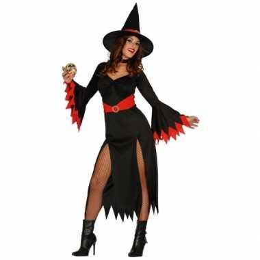 Heksen kostuum zwarte jurk dames