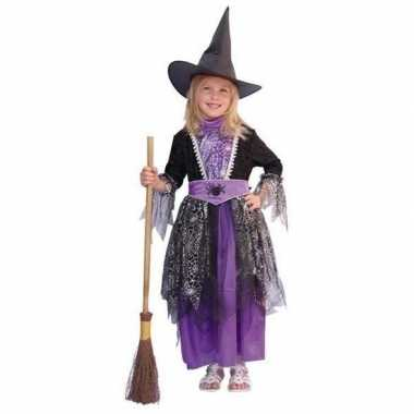 Heksenkostuumje voor kinderen paars