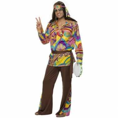 Heren hippie kostuum carnaval