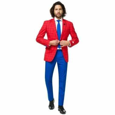Heren verkleed kostuum/kostuum spiderman print