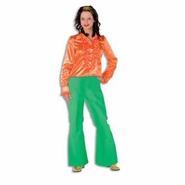 Hippie broek groen voor dames