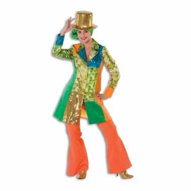 Hippie broek oranje voor dames