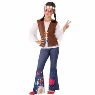 Hippie/flower power verkleed kostuum voor meisjes