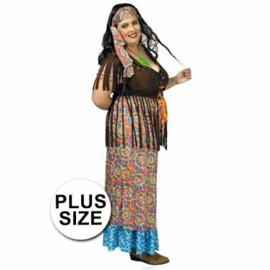 Hippie jurk grote maat voor dames