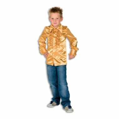 Hippie rouche blouse jongens goud