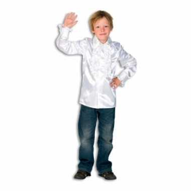 Hippie rouche blouse jongens wit
