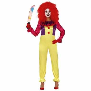 Horror clown freak verkleed kostuum voor dames