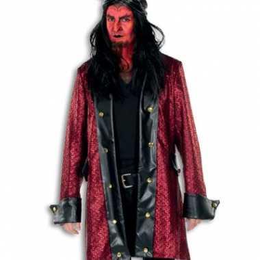 Horror jas rood met zwart