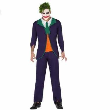 Horrorclown kostuum joker voor heren