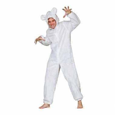 Ijsberen kostuumje voor volwassenen