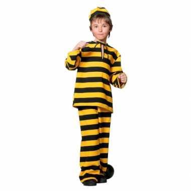 Inbreker kostuum zwart/geel voor kinderen