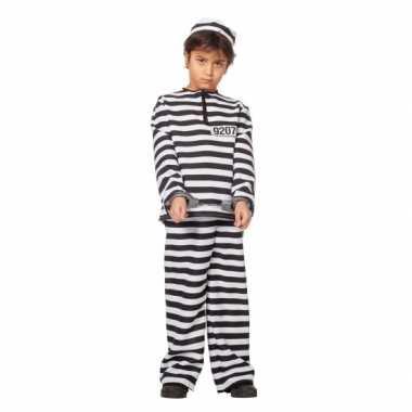 Inbreker kostuum zwart/wit voor kinderen
