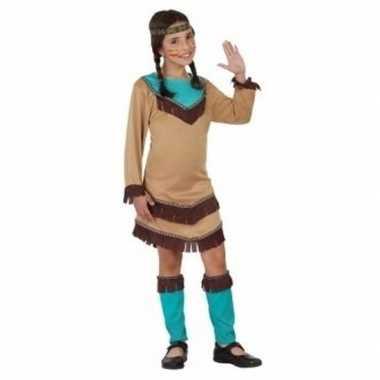 Indiaan chinouk kostuum voor meisjes blauw