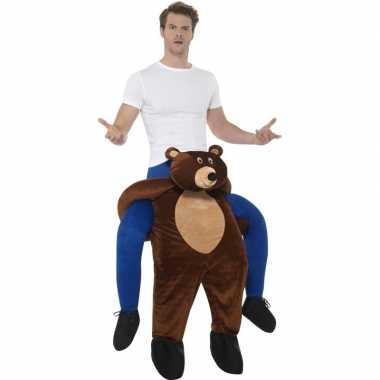 Instap dierenkostuum beer voor volwassenen