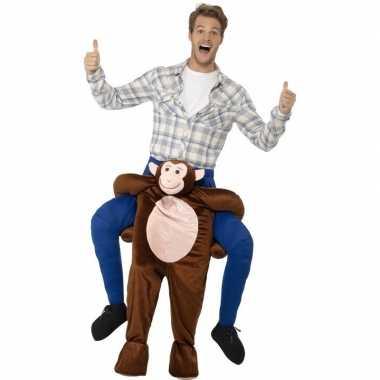 Instap dierenkostuum kostuum aap voor volwassenen