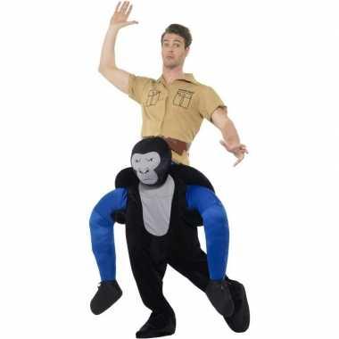 Instap dierenkostuum kostuum gorilla voor volwassenen