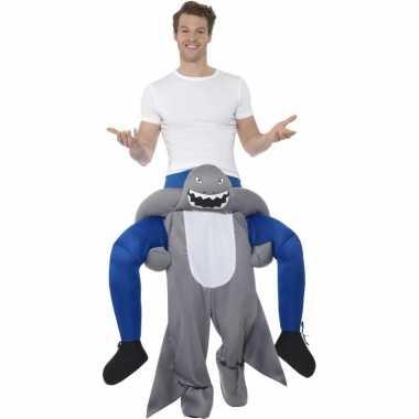 Instap dierenkostuum kostuum haai voor volwassenen