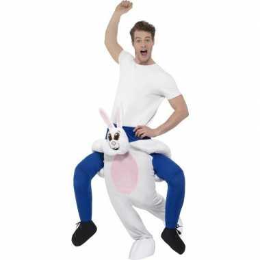 Instap dierenkostuum kostuum konijn/haas voor volwassenen