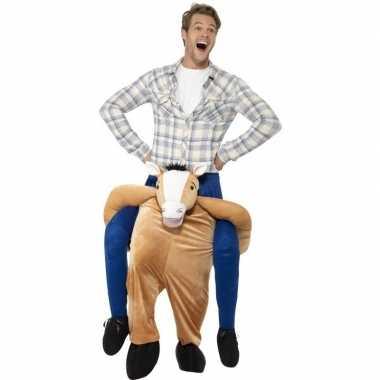 Instap dierenkostuum kostuum paard voor volwassenen
