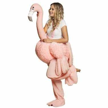 Instap kostuum flamingo voor volwassenen