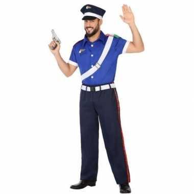 Italiaanse politie verkleed kostuum/kostuum voor volwassenen