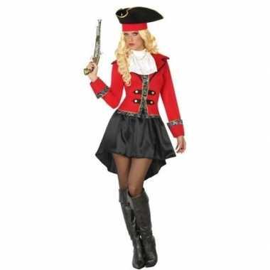 Kapitein piraat grace verkleed kostuum/kostuum voor dames