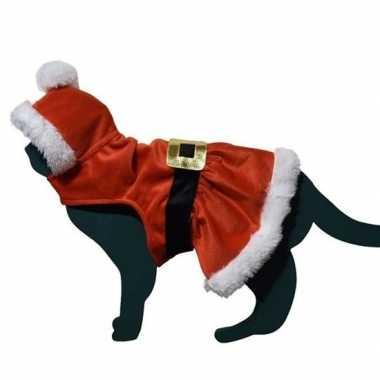Kerstman kostuumje kostuum voor kat/poes