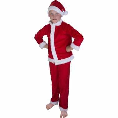 Kerstman verkleed kostuum met muts voor kinderen