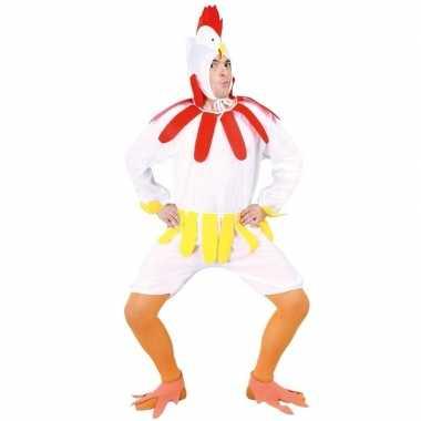 Kip/haan kostuum wit voor volwassenen