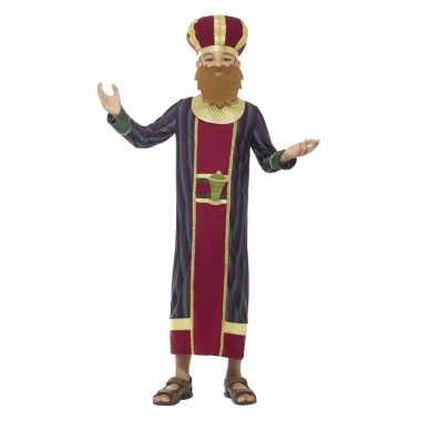 Koning balthazar kostuum voor jongens 3 koningen kerst kostuum