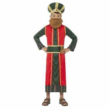 Koning caspar kostuum voor jongens 3 koningen kerst kostuum