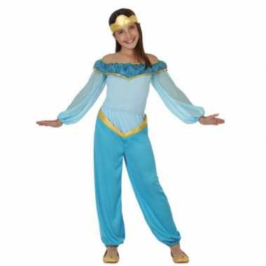 Kostuum blauwe arabische prinses