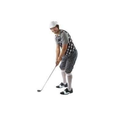 Kostuum golfer zwart voor heren