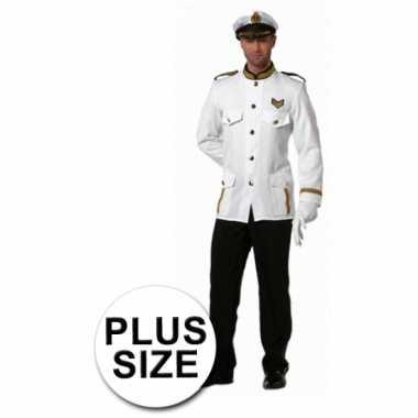 Kostuum grote maten kapitein heren