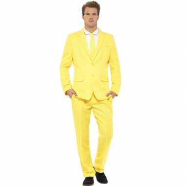 Kostuum heren maatkostuum geel