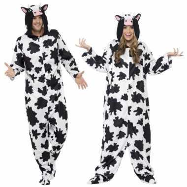 Kostuum koe all in one voor volwassenen