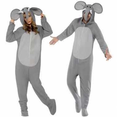 Kostuum olifant all in one voor volwassenen