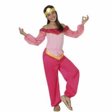 Kostuum roze arabische prinses
