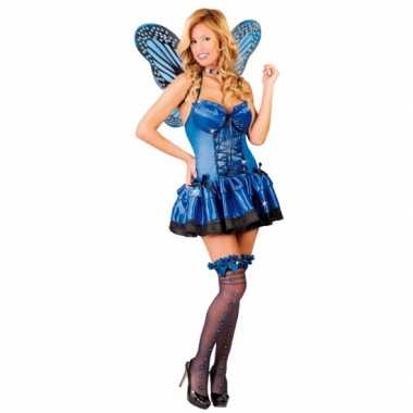 Kostuum vlinder kostuum blauw