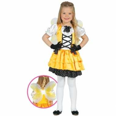 Kostuum vlinder kostuum geel