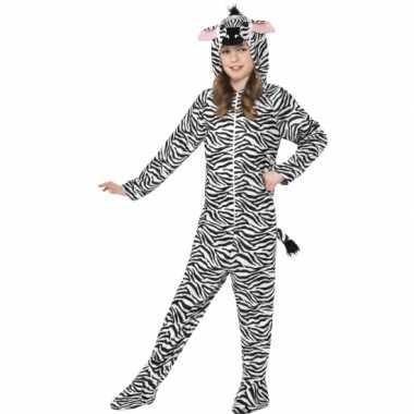 Kostuum zebra all in one voor kinderen