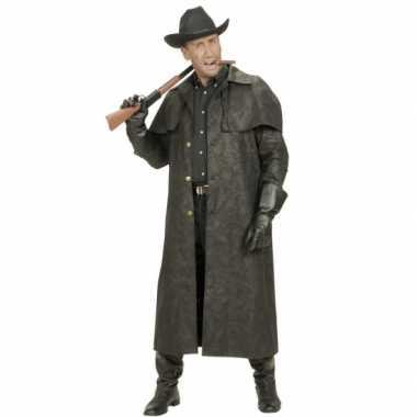 Lange heren jas voor cowboys kostuum