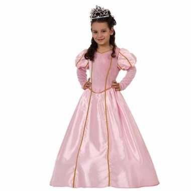 Lange roze prinsessenjurk voor meisjes