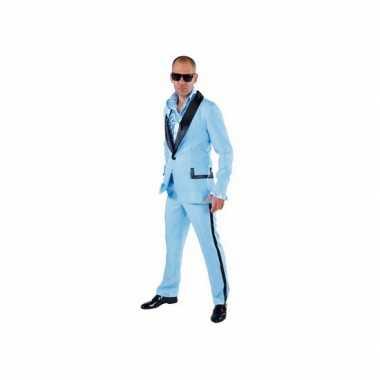 Lichtblauwe smoking kostuum voor heren