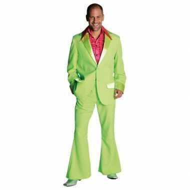 Lime groen jaren 70 kostuum heren