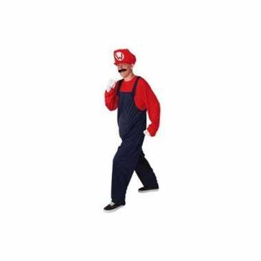 Loodgieter kostuum rood voor heren