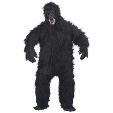 Luxe gorilla kostuum/kostuum voor volwassenen