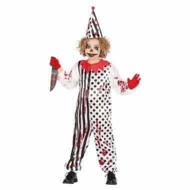 Luxe halloween kostuums horror pierrot voor kids