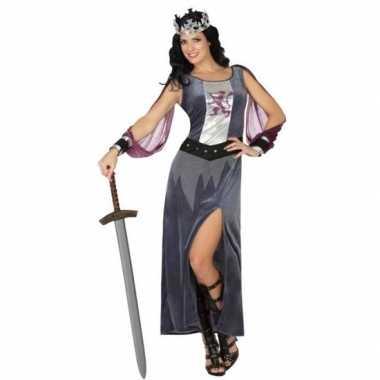 Middeleeuwse koningin victoria verkleed kostuum/jurk voor dames